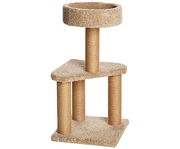 Amazonbasics cat activity tree toys for indoor cats