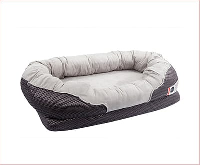 BarksBar grey orthopedic dog bed