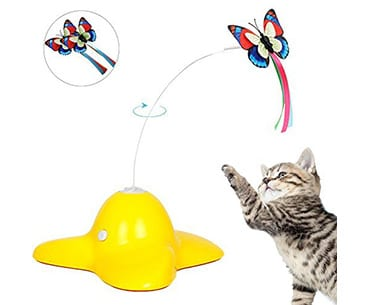 Bascolor electric rotating butterfly cat toys for indoor cats