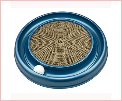 Bergan turbo scratcher cat toy with ball included
