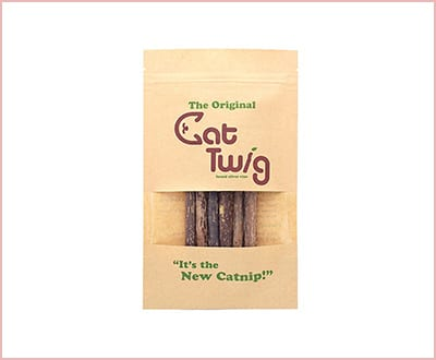 CatTwig organic silver vine alternative stick toy