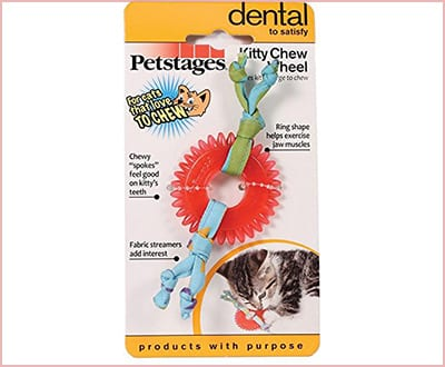 Dental kitty chew wheel by Petstage