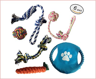 E-sports durable interactive dog toys 6 in a pack