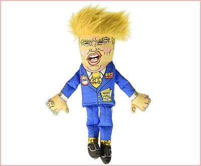 Fuzzu Presidential parody cat chew toy