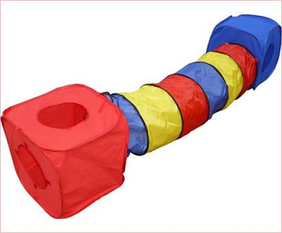 HDP Rainbow collapsible cube and tunnel set for cats