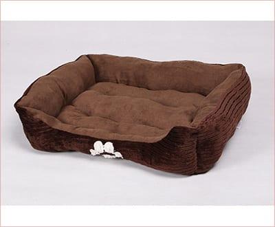 HappyCare Textiles reversable rectangle pet bed