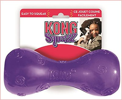 KONG Squeezz dumbbell dog toy large size