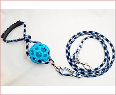 Life Leash Premium 2 in 1 dog leash and toy indestructible