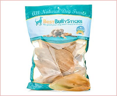 Natural cow ear dog treats bully sticks