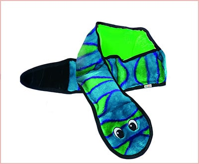 Plush Snake durable dog toy without stuffing