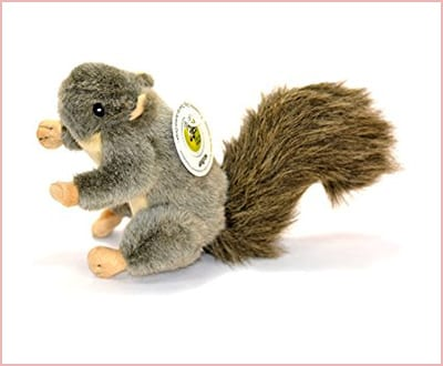Realistic plush squirrel toy medium size