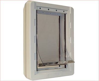 Ruff weather pet door with telescoping frame by Ideal pet products
