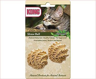 Straw catnip balls by KONG