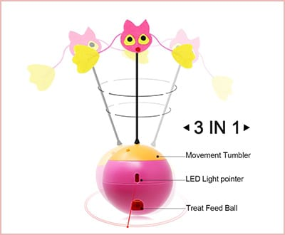 Tumbler laser interactive 3 in 1 cat toys