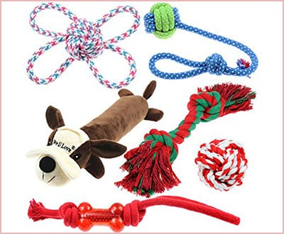 Well Love dog toys 6 pack cotton rope