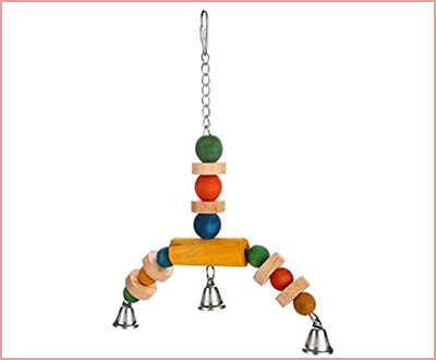 Aigou bird swing with bells parrot toy