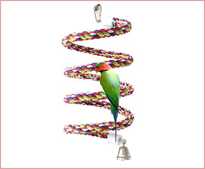 rope bungee bird toy by Petsvv