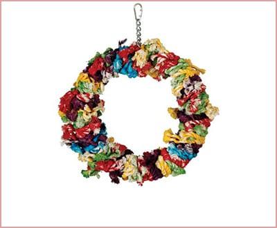 Caitec Paradise snuggle ring parrot toy
