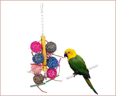 colorful Rattan ball chewing parakeet toys
