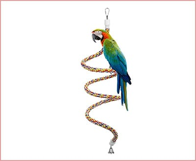 Etrech bungee rope perch toy for parrots