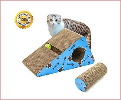 Living Express multi activity kitty cat scratching post with catnip
