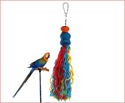 long bungee rope parakeet toy