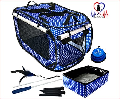 Pet Fit Life collapsible cat bed and carrier
