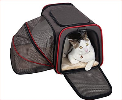 PetsFit expandable cat carrier