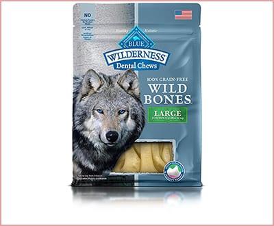 BLUE Wilderness wild bones grain free dental chews for dogs