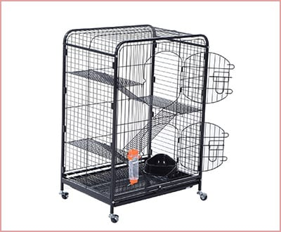 Pawhut guinea pig cage indoor use