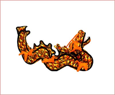 Tuffy dragon orange dog toy