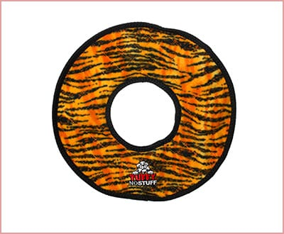 Tuffy no stuff durable dog toy mega ring with 4 layers of material