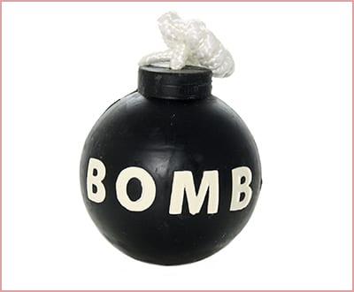 Tuffy rugged rubber dog toy bomb model