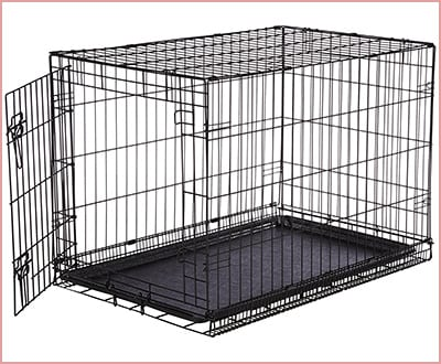 Amazon Basics folding metal crate single door