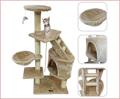 Lolipet cat tree with scratching post