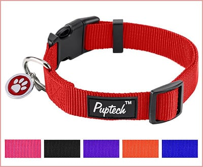 Pupteck Basic nylon adjustable dog collar