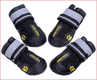 Qumy waterproof dog boots