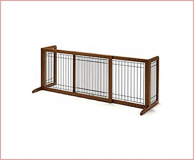 Richell Wood freestanting gate medium size