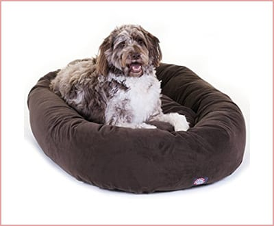 Suede dog Bed by Majestic Pet products waterproof base