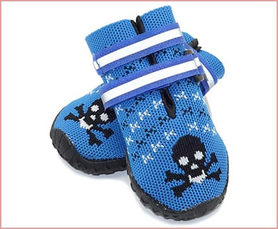Vivaglory breathable dog boots with reflective velcro straps