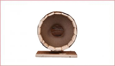 Yunt Hamster Cute Wooden Wheel