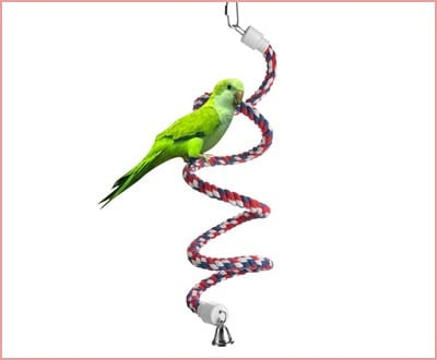 Aigou Bird Spiral Rope Perch