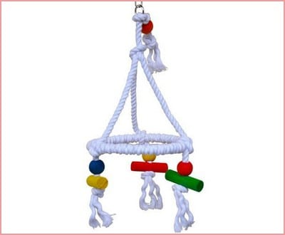 Bonka Bird Toys 1422 Rope Swing Pyramid Perch
