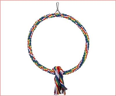 Bird Cotton Rope Perch Bungee Chew toy
