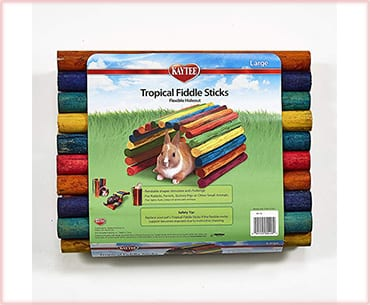 best Kaytee tropical fiddle sticks guinea pig toys