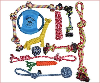 Pacific Pups Rope Pitbull Chew Toys