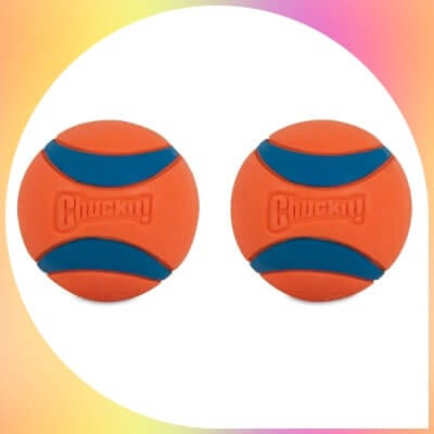 two orange Chuckit! Ultra Ball