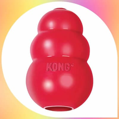 red Kong Classic rubber  Dog Toy