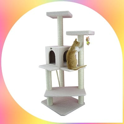 Armarkat easy assembly cat tree furniture condo