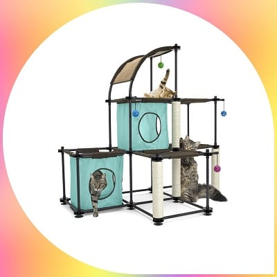 Kitty City steel claw mega cat tree kit
